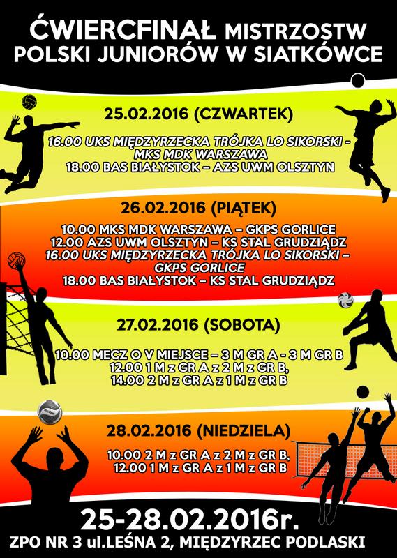 1/4 Mistrzostw Polski Juniorów w Międzyrzecu Podlaskim 2016