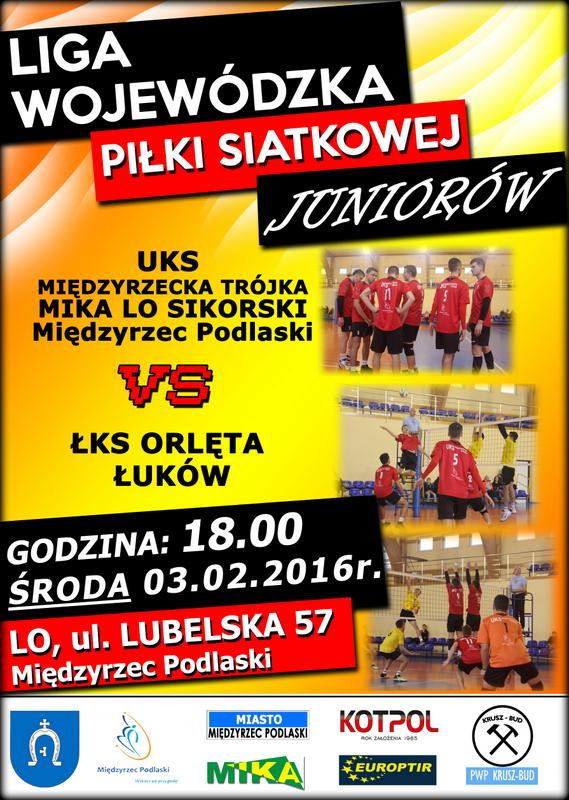 Ćwierćfinał Mistrzostw Polski Juniorów w dn. 25-28 luty 2016r. w Międzyrzecu Podlaskim
