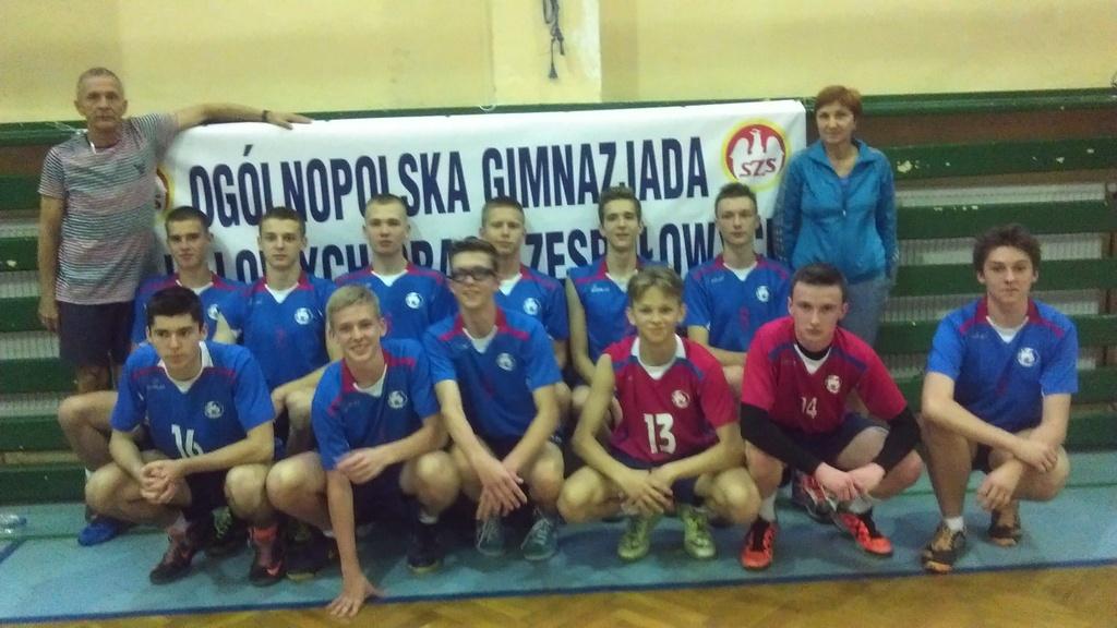 VI miejsce w Mistrzostwach Polski Gimnazjada 2016