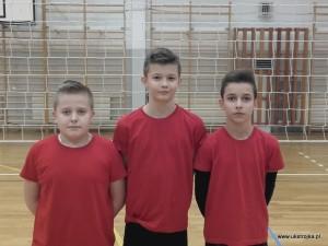 UKS: Kacper Sadłoń, Kacper Roszkowski, Bartłomiej Chilicki.