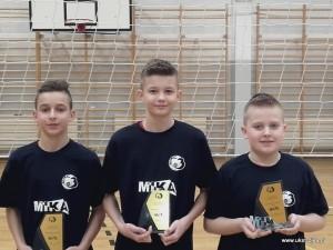 Mistrzowie Siatkarskich Trójek 2019 - Bartłomiej Chilicki. Kacper Roszkowski, Kacper Sadłoń.