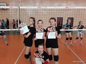 "Międzyrzec I (""3"") - Julia Hryciuk, Klaudia Szyndler, Zuzanna Mróz i Martyna Chibowska."