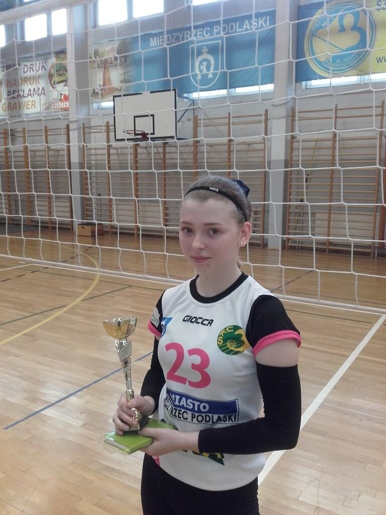 """MVP (Najbardziej Wartościowy Zawodnik) 2 Turnieju """"2"""" - Gabriela Markowska."""