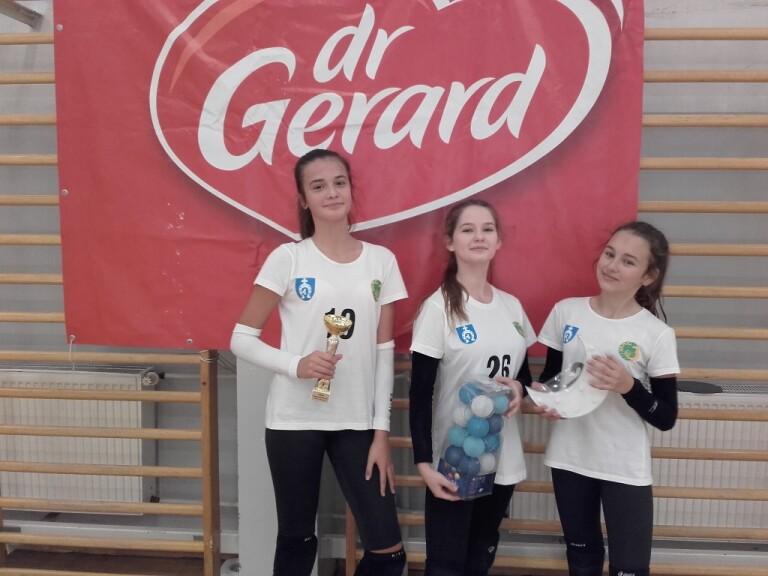 """Mistrzynie 2 turnieju """"3"""" - Julia Hryciuk, Aleksandra Marciniuk i Amelia Cisak."""